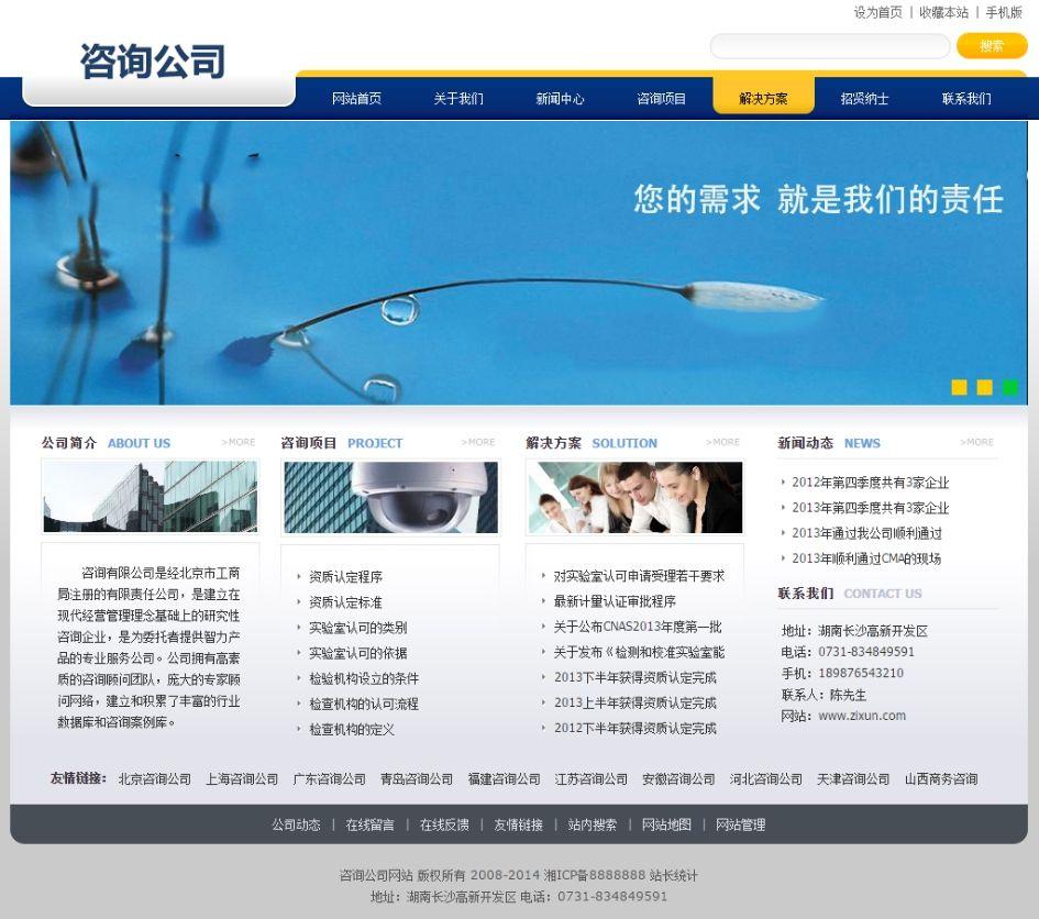 咨询公司网站模板-整体效果